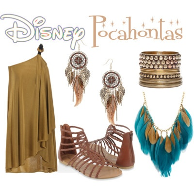 Ok, no way in hell would I pay $2300 for that Alexander McQueen dress, I would just get some brown microfiber to tie up toga-style. But the rest I could swing! POCAHONTAS HALLOWEEN 2012!