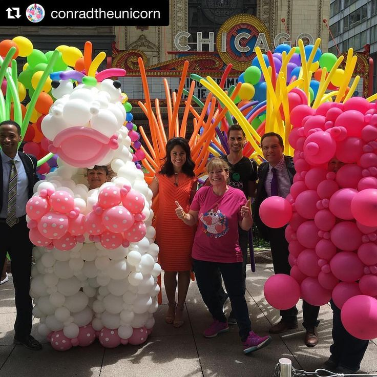 Conrad the Unicorn returned to Chicago to march with us in the 2017 Chicago Pride Parade! He even asked us to join him at his interview with ABC 7. Life is Sweet! | Balloons by Tommy | #balloonsbytommy
