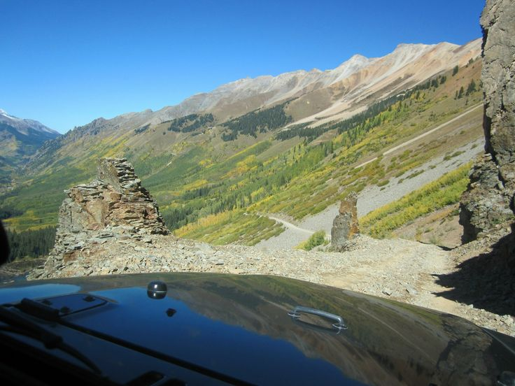 Going west across Ophir Pass.