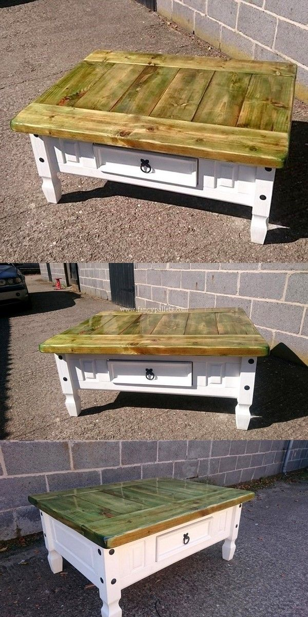 Outstanding Shipping Pallets Coffee Table Idea Wooden Pallet