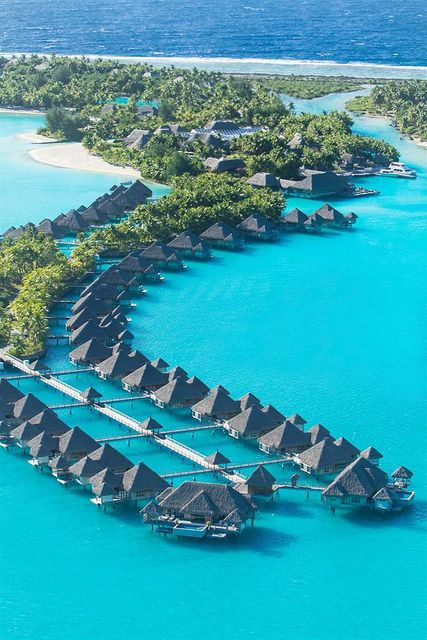 The St. Regis Bora Bora Resort—Aerial