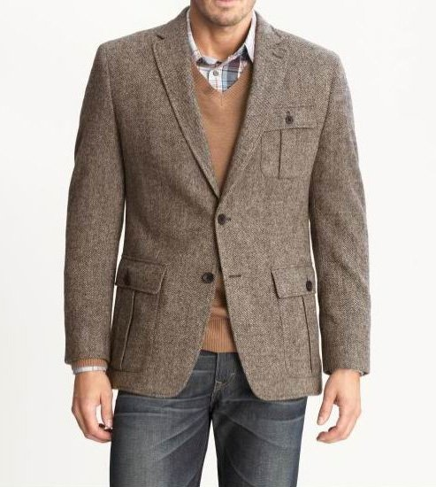 Sports Jacket with Jeans If you're feeling brave and want to run (literally), with the jacket and jeans look, then the sport coat or sports jacket is your number one stop. It's step one in achieving the jacket and jeans combination and a sports jacket and a pair of jeans work well together as companions.