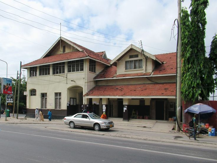 The Central Line Train Station (1897) in Dar es Salaam, Tanzania, dates from German colonial times. Three times a week a train leaves here on the 40-hour trip to Kigoma on Lake Tanganyika.