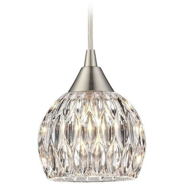 Crystal Mini-Pendant Light with Clear Glass ($118) ❤ liked on Polyvore
