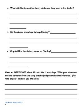 FREE: This is a Flat Stanley comprehension packet.  It is based off Jeff Browns first Flat Stanley book.  ...