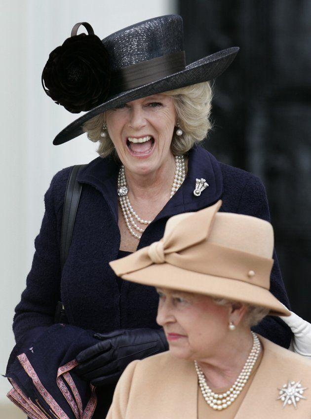 Camilla Parker-Bowles and Queen Elisabeth