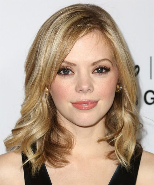 Dreama Walker Hairstyle - Medium Wavy Casual - Medium Blonde