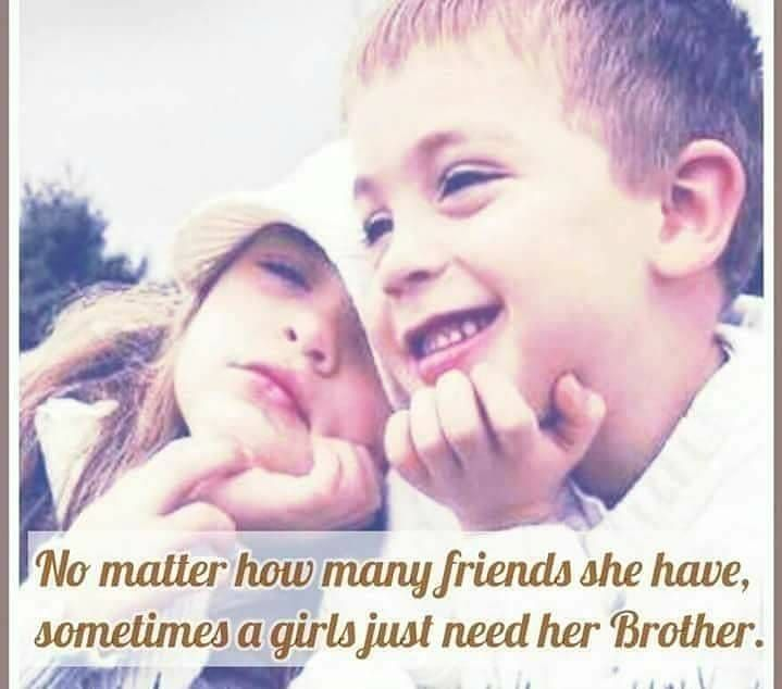 Friends are important part of our life but Brothers and Sisters are