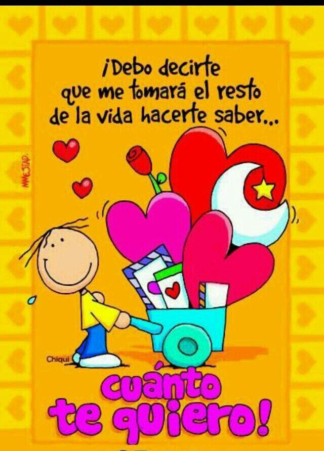 Te quiero muchísimo !!
