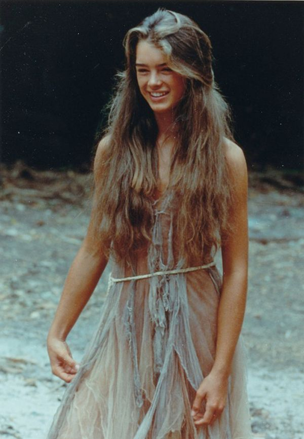 Brooke Shields, shipwrecked and stunning in The Blue Lagoon (1980).