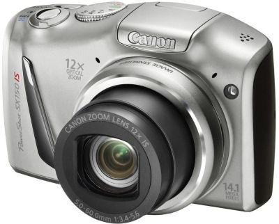 : Canon Powershot SX150 IS Compact Digital Camera (12.1MP)(Silver)