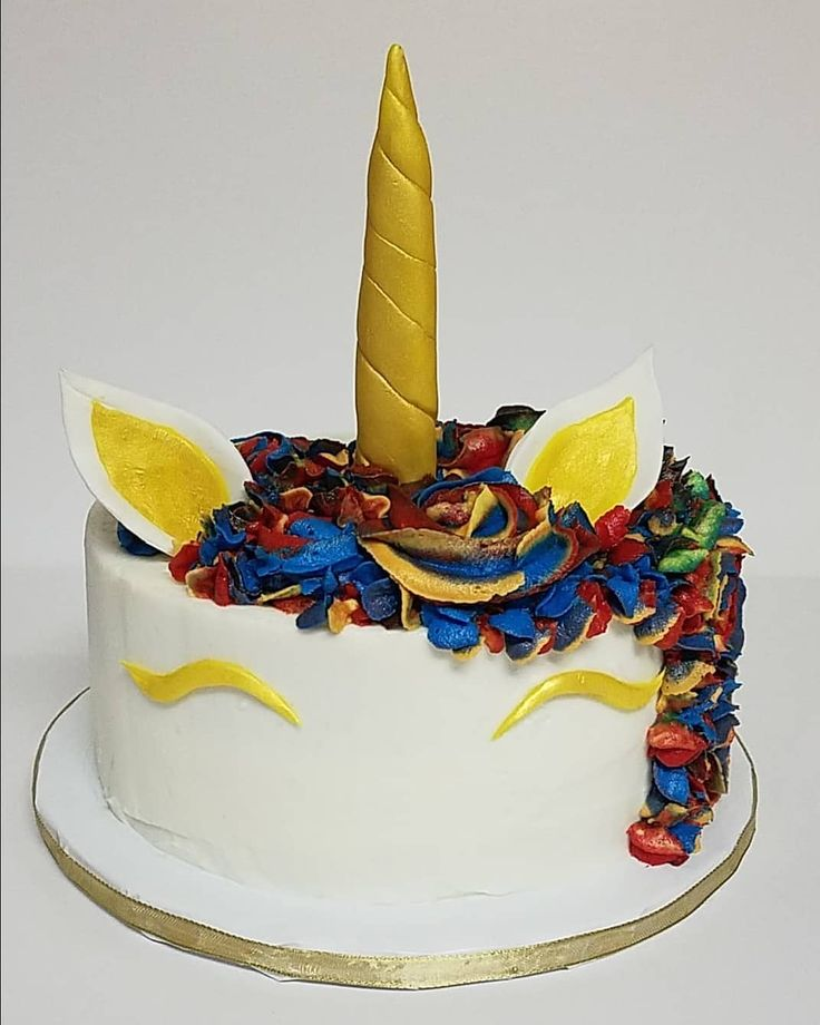 Unicorn Birthday Cake. When rainbows and gold come together to create magic. #unicorn #unicorncake #unicornbirthday #unicornbirthdaycake #instacake #instabaker #madewithlove #marysediblecreations #delightfulhomemadedesserts #detailsmatter #customcakeartist #customcakeorder #rainbow #rainbowunicorncake #rainbowunicorn #goldunicorn
