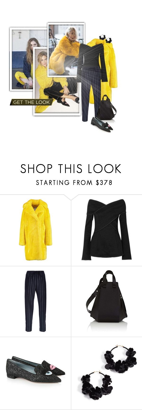 """Get the Look - Moschino Faux fur coat"" by ivyargmagno ❤ liked on Polyvore featuring Chiara Ferragni, Moschino, Beaufille, Joseph, Loewe and Oscar de la Renta"
