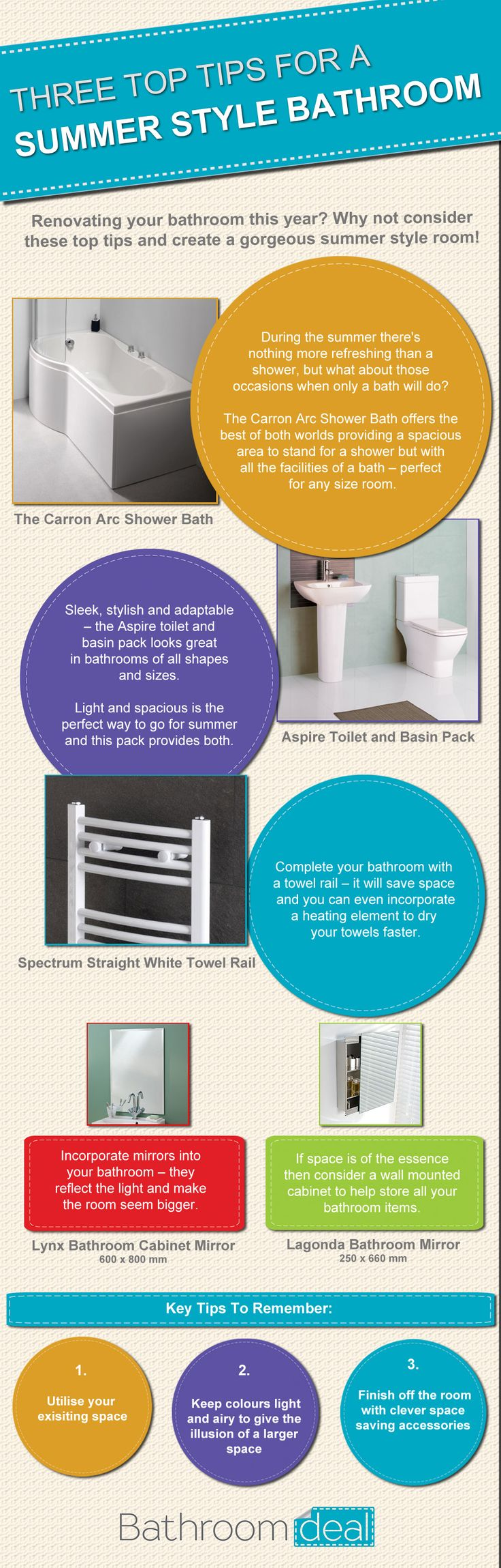 How to Create a Summer Style Bathroom   tidy away today. 1000  images about Bathrooms  on Pinterest