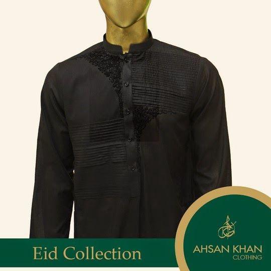 Ahsan Khan Men's Kurta Collection 2014 for Eid launched. This brand has introducing fine quality clothing products included kurtas, sherwanis, shalwar kameez, kurta shalwar.