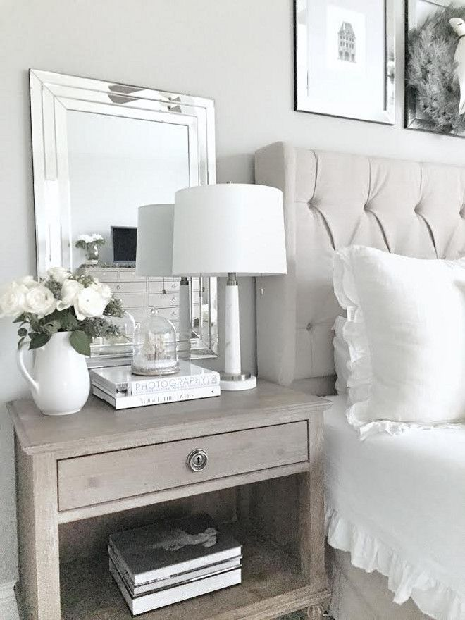 Nightstand Styling. Simple and elegant ways to style your nightstand. Bedroom Nightstand Styling. #Bedroom #NightstandStyling #NightstandStylingIdeas MyTexasHouse