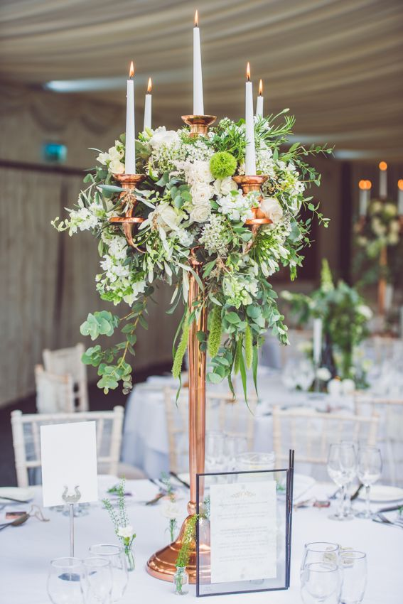 Botanical Green & Copper Wedding Decor - Stephanie Allin 'Lottie' | Elegant Botanical Wedding | Oldwalls Gower Wedding Venue | Nick Murray Photography