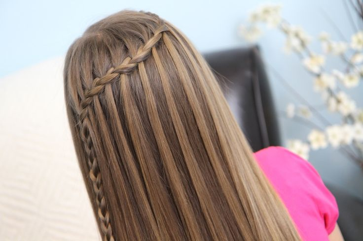 The braided waterfall hairstyle. Cute! #hair #kids