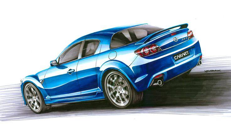 Mazda RX-8 Markers 70x50cm 2011y  Nikodem Sabak