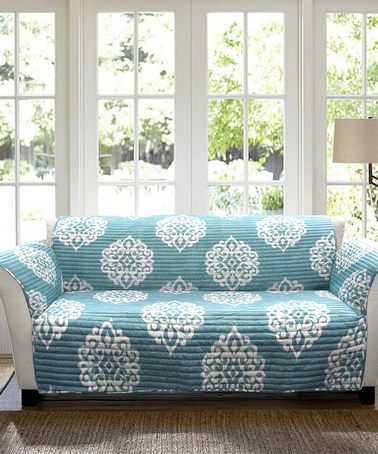 Another great find on #zulily! Blue Kristen Sofa Protector #zulilyfinds