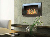 Anywhere Fireplace Stainless Steel Wall Mount Fireplace