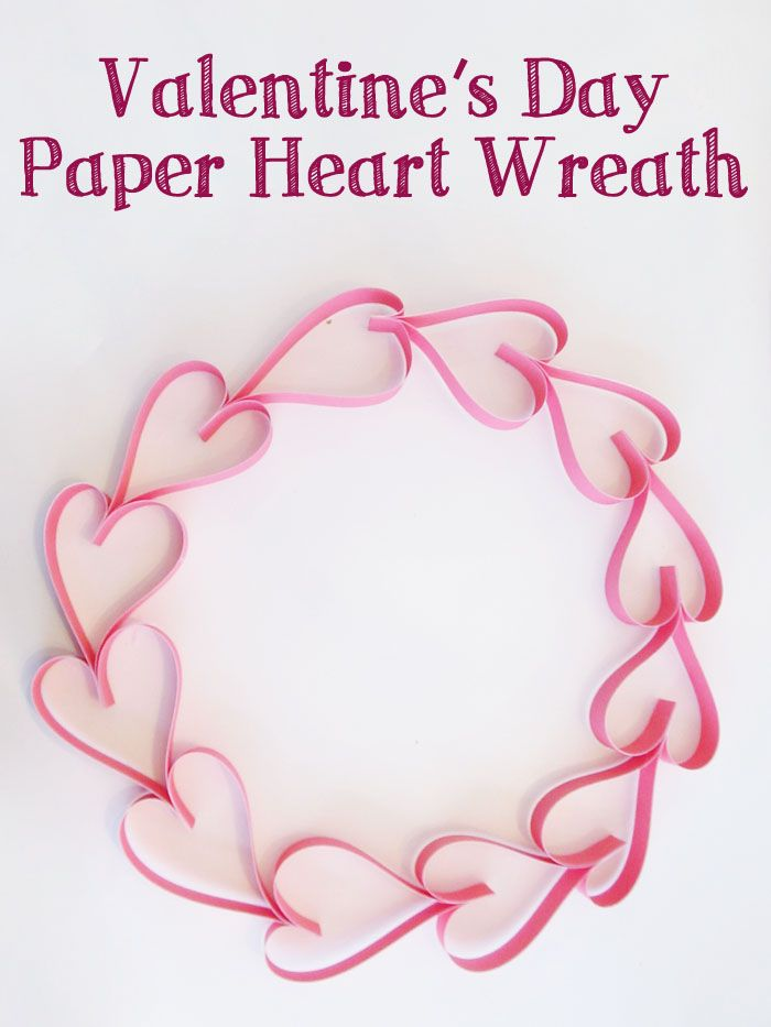 Valentine's Day Paper Heart Wreath - Pinned by @PediaStaff – Please Visit ht.ly/63sNtfor all our pediatric therapy pins