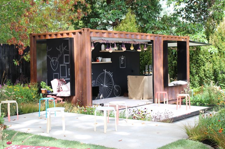 Ian Barker Landscape Design -clever use of shipping container