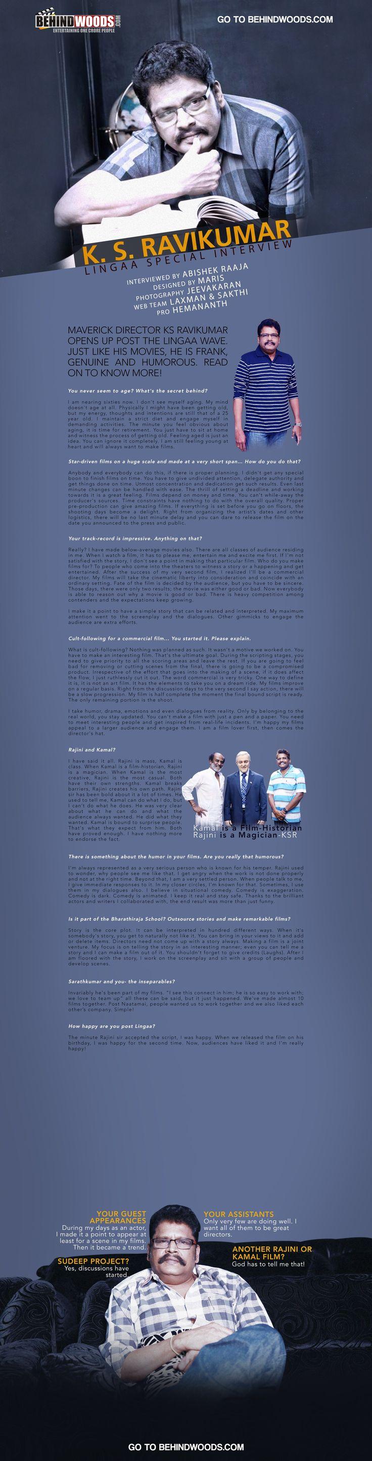 K.S.Ravikumar Special Interview
