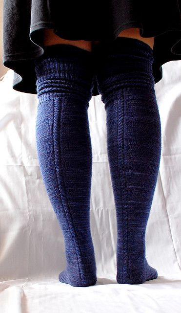 Ravelry: Delicious Knee Socks pattern by Laura Chau