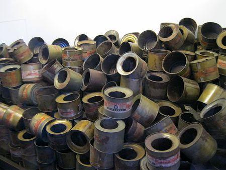 アウシュビッツ強制収容所のガス室で被収容者の殺害に使われたチクロンBが入っていた缶=16日、ポーランド・オシフィエンチム ▼20Jan2015時事通信|髪、靴、ガス室生々しく=アウシュビッツ解放70年-ポーランド http://www.jiji.com/jc/zc?k=201501/2015012000472 #Auschwitz_concentration_camp #Auschwitz_Birkenau