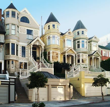 Queen Anne row  in Pacific Heights, San Francisco CA