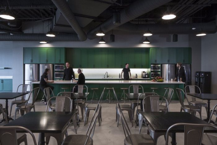 Endemol Shine Offices Los Angeles Office Snapshots Bar Interior Lunch Room Workplace Design