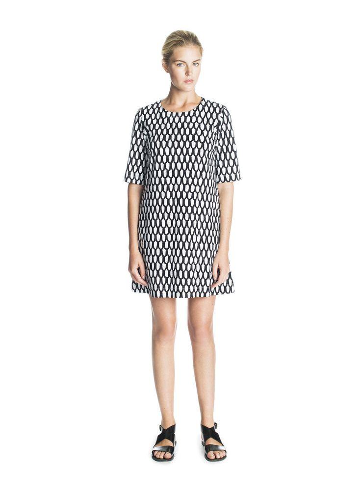 UJUMA MARIMEKKO DRESS BLACK/WHITE