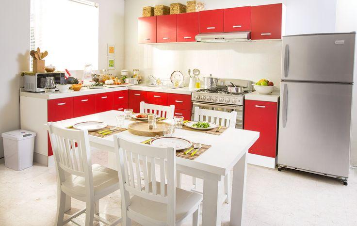 Una cocina roja dará más vida a tu hogar.