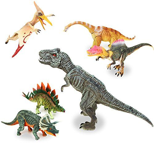 QuadPro 6 piece dinosaur toys, Kid party supplies Include Triceratops, Brachiosaurus, Spinosaurus,Stegosaurus, Pterodactylus, T Rex Toy, jumbo plastic dinosaurs toddler STEM Toys for boys and girls. For price & product info go to: https://all4babies.co.business/quadpro-6-piece-dinosaur-toys-kid-party-supplies-include-triceratops-brachiosaurus-spinosaurusstegosaurus-pterodactylus-t-rex-toy-jumbo-plastic-dinosaurs-toddler-stem-toys-for-boys-and-girls/