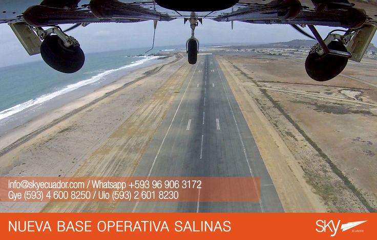 Desde hoy iniciamos a volar en #Salinas  Estaremos atendiendo al público próximamente.    Fórmate como Piloto Comercial en #Ecuador !  Siguiente curso: #Quito - FEBRERO / MATRICULAS ABIERTAS  #Guayaquil - FEBRERO / MATRICULAS ABIERTAS #SALINAS -  FEBRERO / MATRICULAS ABIERTAS    Para mayor información escríbenos a: info@skyecuador.com o mensajes WhatsApp 096 906 3172  Teléfonos:  02 601-8230 #Quito  04 600 8250 #Guayaquil