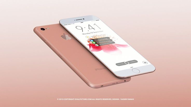 iPhone 7 concept illustration by Yasser Farahi: colour options