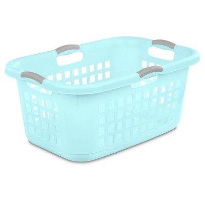 2 Bushel Laundry Basket Aqua With Gray Handles Room Essentials