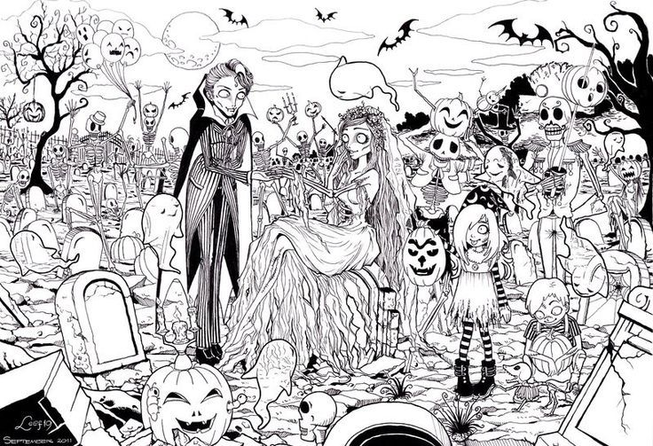 A great and very detailed spooky Halloween picture to help keep you in the spirit! Hope you enjoy!