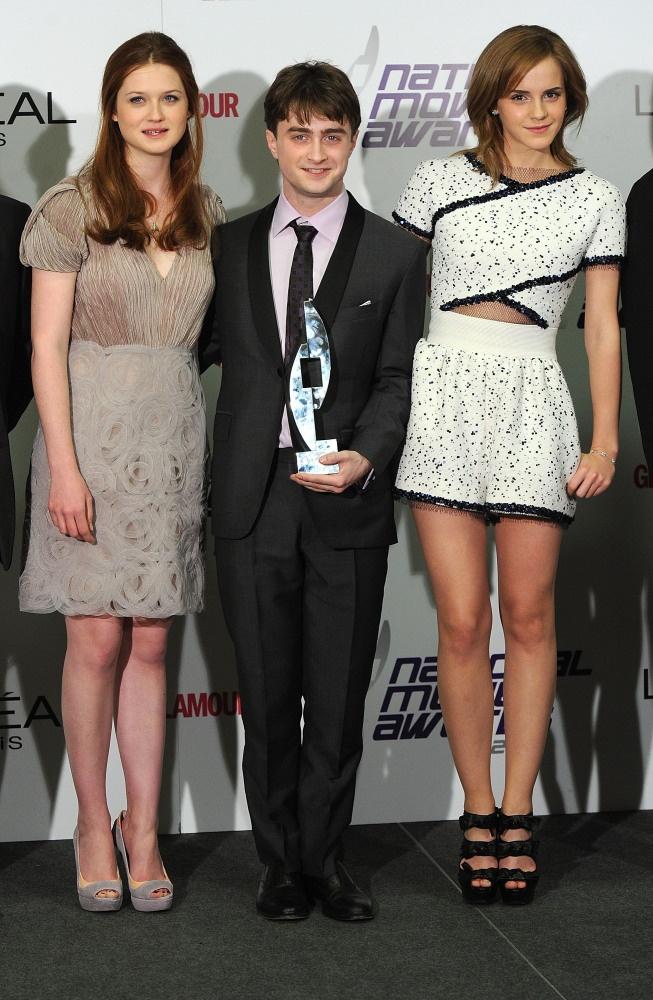 Bonnie Wright, Daniel Radcliffe, and Emma Watson