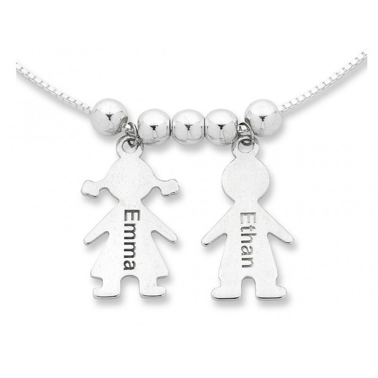 Personalised Child Charm Necklace Sterling Silver