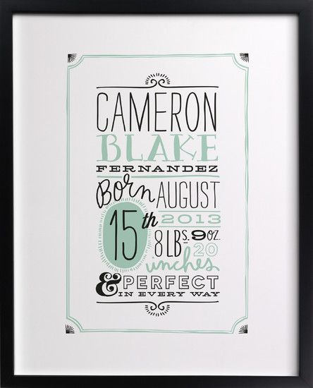 adorable poster for baby room!