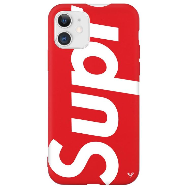 Louis vuitton supreme iphone 11 phone case red