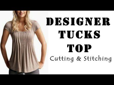 Designer Tucks Top Cutting & Stitching   Latest Top Designs - YouTube