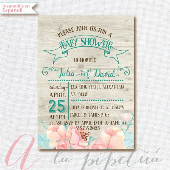baby shower invitation coed babyshower wood babyshower invitation couples babyshower rustic babyshower invite printable linen invite