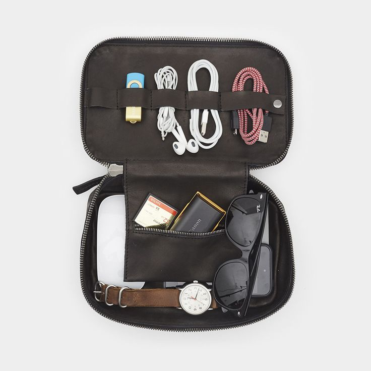 Tech Dopp Kit - Whiskey & Charcoal Color Dopp Kit by This is Ground - Cool Material - 1