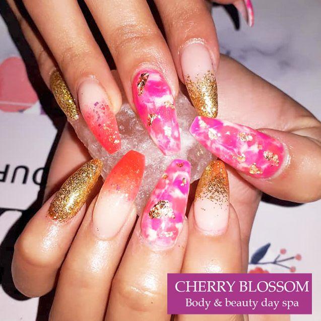 Cherry Blossom Day Spa Gel Nails Spa Day Cherry Blossom
