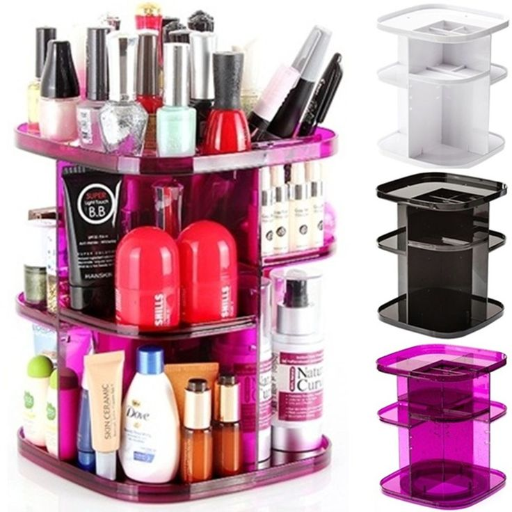 turn spin Cosmetic Organizer Makeup box case holder Spinning rack shelf rotating #SpinningCosmeticOrganizer