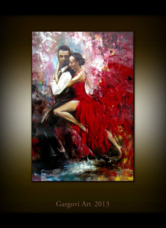 Hey, I found this really awesome Etsy listing at https://www.etsy.com/listing/117931686/figurative-painting-tango-dancers-love