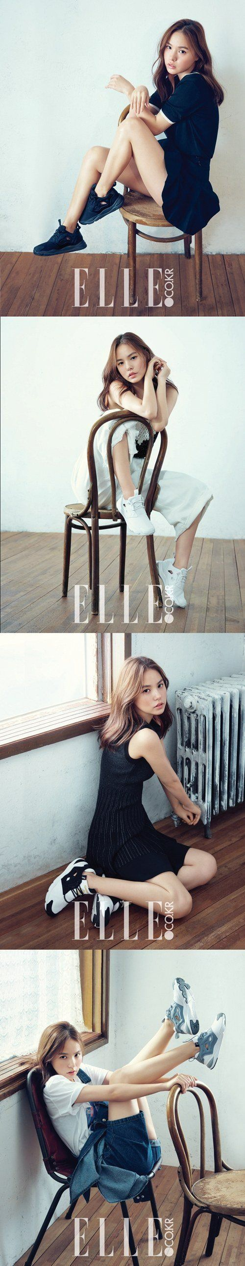 Sexy and cute actress Min Hyo Rin stylishly dons 'Reebok' for 'ELLE' | allkpop.com